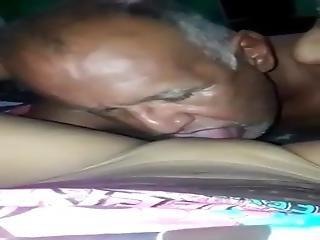 Srilankan Grandpa Taste Grand Daughters Pussy