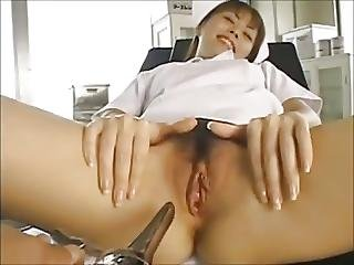 Young Nurse Banged By Her Patient And Doctor