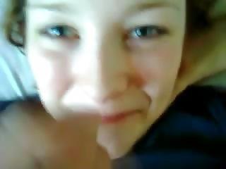 Beautiful Blue Eyes 18yo Girl Cummouth And Swallow