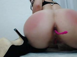 M0llyhendricksxxx Pussy And Anal Dildo, Pussy And Butt Spanking