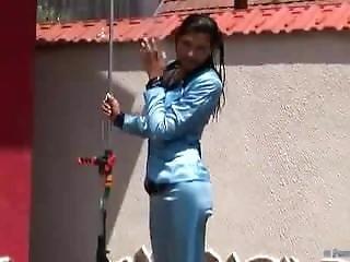Blue Suit Shower