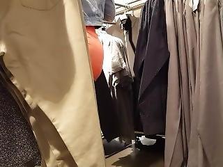 Candid Voyeur Ebony In Tight Skirt Shopping