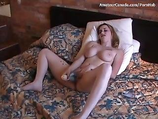 Amateur, Babe, Teta Grande, Rubia, Sexando, Milf, Madre, Sexo, Solo, Jugetes
