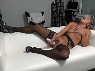 Fucking Myself With A Big Dildo And Having Multiple Loud Orgasms
