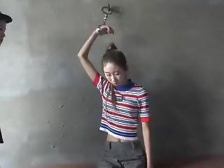 aziatisch, chick, bondage, brunette, chineze, geboeid, fetish, handboeien, lesbisch, realiteit, Tiener