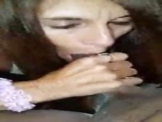 Streetwhore Blows A Black Dick
