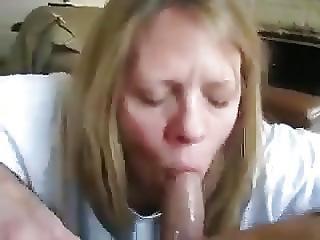 amatør, blowjob, sæd, sæd i mund, matur, milf, hustru