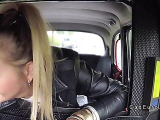 Nasty Blonde Teen Flashing Pussy And Big Tits While Licking Lollipop In Fake Taxi Then Driver Pulling Off Taxi And Fucking Her In Every Position Possible In Back Seat In Public