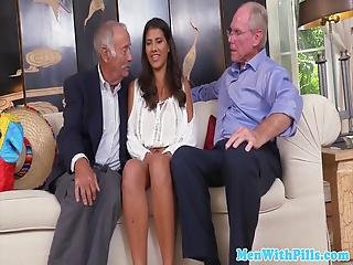 Amateur Teen Doggy Styled By Old Mans Dick