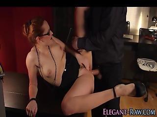 Classy Babe Gets Cumshot