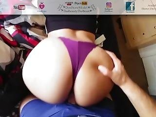 Fucking Sexy College Gym Girl Latina Juicy Ass Doggy Style Thong Fuck Pov