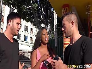 Busty Ebony Lisa Tiffian Gets Dp D