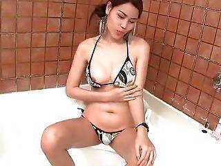 anal, asiatisch, barmädchen, bikini, arsch, sperma, schwanz, ladyboy, shemale, thai, winzig, spielzeug, transe