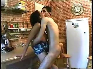 Arab Hairy Mature with Saggy Hangers Fucked