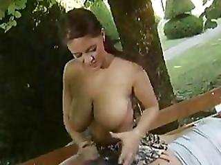 Sexy %26 Busty Young Girl Eagerly Fucking A Homeless Guy On A Park Bench%21