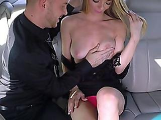 Horny Blonde Molly Gets A Free Dick Ride Inside A Taxi