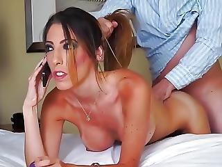 Fucked While Talking Porno Scene 17