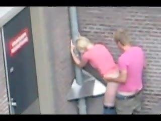 Young Drunk Blondes Caught Having Sex While Public Watches