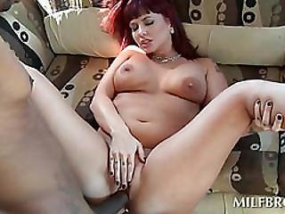 Turned On Mom Gets Peachy Cunt Smashed