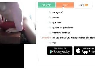 [chatroulette] Spanish Girl Fucking With Table