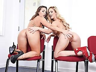 Hot Cherie And Abigail Mac Having Threesome With Keiran Lee