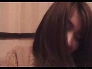 Petite Smiling Japanese Girl Getting Her Hairy Muff Pleasured
