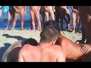 Sensational Public Nudist Orgy