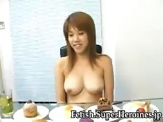 Asian Girl Belly Stuffed Part1