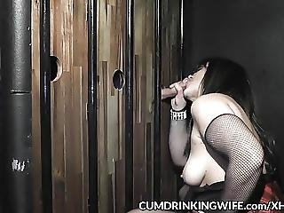 Slutwife Is Servicing Strangers At Gloryholes And Theaters