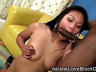 Petite Asian Beauty Lana Handles A Tool To Big For Her Cunt
