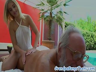 Adorable Teen Fucked Outdoors By Grandpa