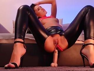 Camgirl Wetlook Shiny Leather Pants Leggings