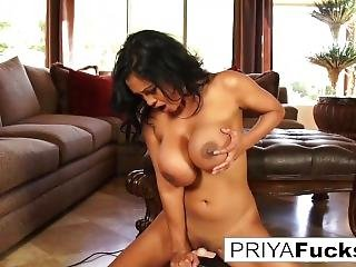 Indian Milf Priya Rai Rides A Sybian To A Giant Climax!