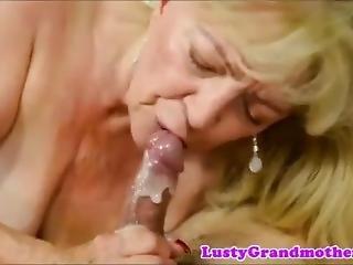 Granny Mouth Cum Compilation
