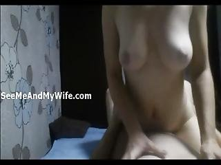 Amateur, Boob, Cream, Creampie, Milf, On Top, Wife