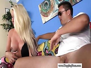 Busty Teen Amateur Jerking Dick