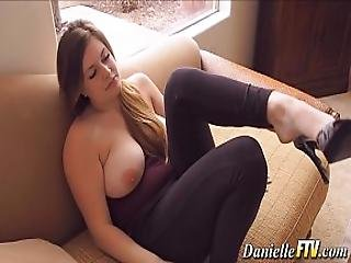Solo Naturally Busty Babe