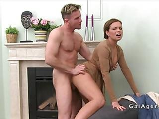 Handsome Male Model Bangs Female Agent
