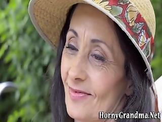 Cock Loving Granny Facial