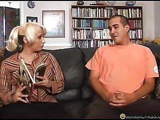 Big Breasts Blonde Licks Guy