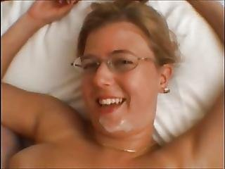 Big Tit, Blonde, Blowjob, British, Facial, Nerd, Oral