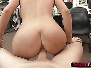 Blondie And Slutty Sadie Leigh Gets Hammered By Shawn In His Office
