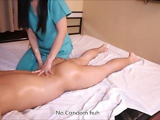 Pinay Massage Therapist Gives Extra Service For The First Time #massage2018