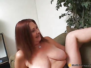 Aunt Kicks From Her Caresses