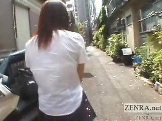 Japanese Schoolgirl Marbles Insertion For Jump Rope Subtitled