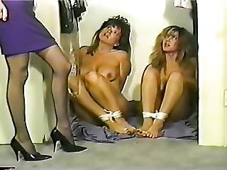 Two Girls Tied In Closet Toetied