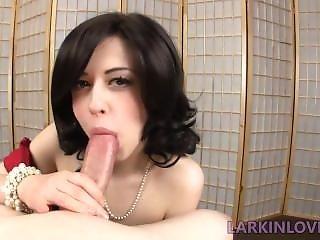Larkin Love - Son Cums Twice In Stepmoms Mouth