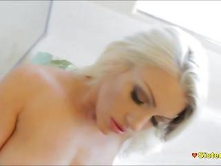Hot Teenager Sister Spied Showering & Fucked By Stepbrother