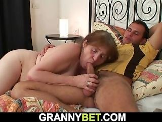 Young Guy Doggy-fucks Injured Old Grandma