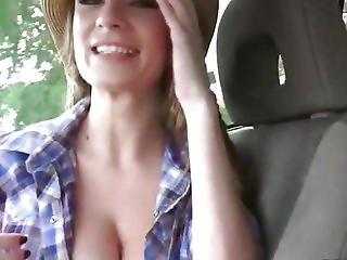 Horny Cowgirl Dillion Carter Pounded By Stranger In Public
